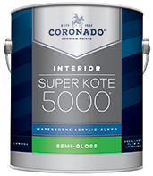 Alamo Paint & Decorating® Super Kote 5000® Waterborne Acrylic-Alkyd is the ideal choice for interior doors, trim, cabinets and walls. It delivers the desired flow and leveling characteristics of conventional alkyd paints while also providing a tough satin or semi-gloss finish that stands up to repeated washing and cleans up easily with soap and water.boom