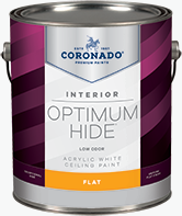 Alamo Paint & Decorating® Optimum Hide Ceiling White is a quick-drying flat finish designed for interior ceilings. It is ideal for areas that must remain in service while being painted, such as hotels, offices, hospitals, and nursing homes. It dries a bright white and minimizes surface imperfections.boom